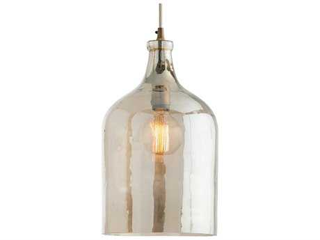 Arteriors Home Noreen Vintage Brass with Smoke Luster Glass 10'' Wide Pendant Light