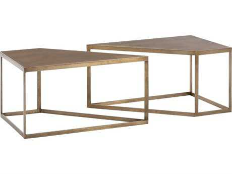 Arteriors Home Austin Antique Brass 40''L x 20''W Rectangular Cocktail Table (Sold in 2)