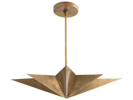 Arteriors Home Rex Antique Brass Four-Lights 24'' Wide Pendant Light