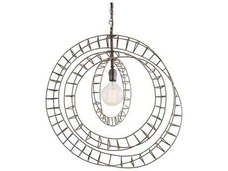 Arteriors Home Roxbury Natural Iron with Antique Brass 24'' Wide Pendant Light