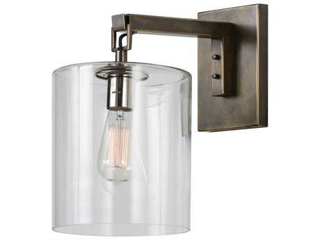Arteriors Home Parrish Antique Bronze with Clear Glass Wall Sconce