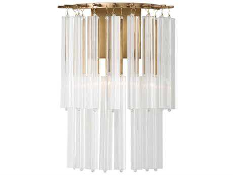 Arteriors Home Norton Antique Brass with Fluted Glass Wall Sconce