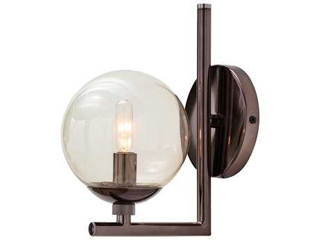 Arteriors Home Quimby Brown Nickel with Smoke Glass Wall Sconce