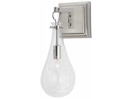 Arteriors Home Sabine Polished Nickel with Clear Glass Wall Sconce