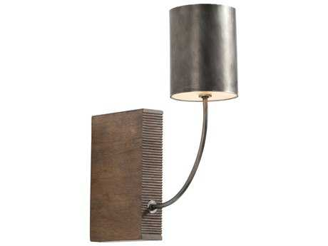 Arteriors Home Flynn Aged Iron with Weathered Oak Wall Sconce