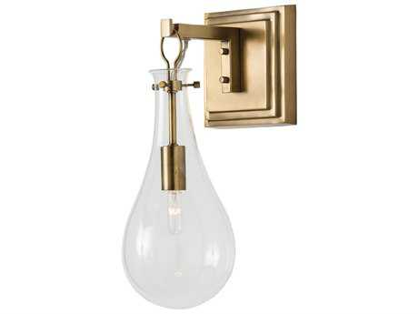 Arteriors Home Sabine Antique Brass with Clear Glass Wall Sconce
