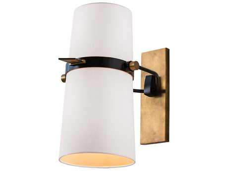 Arteriors Home Yasmin Bronze with Antique Brass Two-Lights Wall Sconce