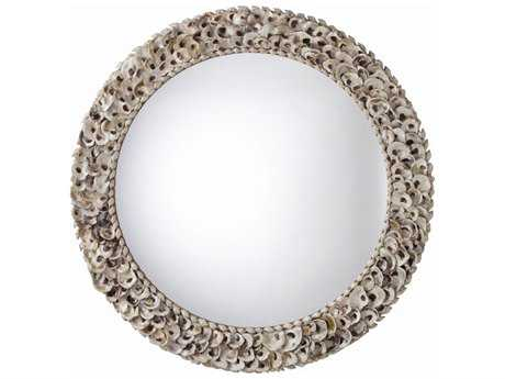 Arteriors Home Kipling Natural Oyster Shell 42'' Round Wall Mirror
