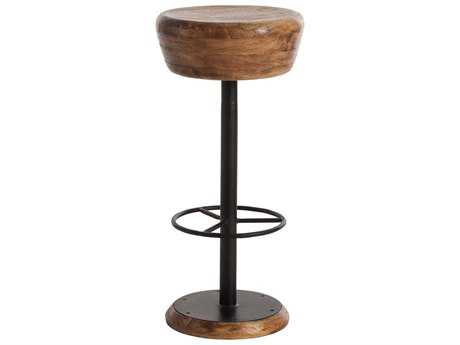 Arteriors Home Caymus Natural Wood with Natural Iron Bar Stool