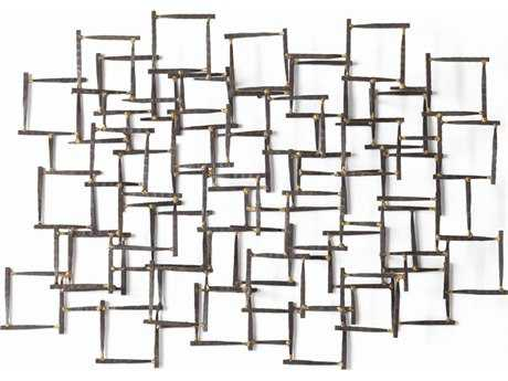 Arteriors Home Natural Iron with Brass Welds Wall Sculpture