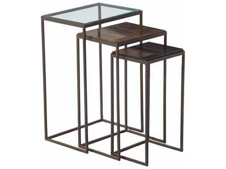 Arteriors Home Knight Dark Natural Iron 18''L x 13''W Rectangular Nesting Table