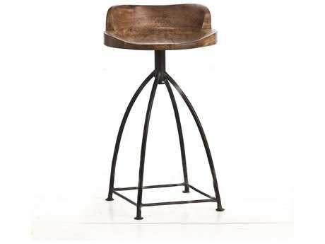 Arteriors Home Henson Sanblast Antique Wax Counter Stool