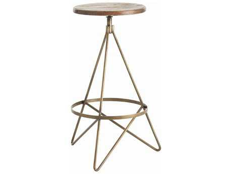 Arteriors Home Wyndham Natural Wax Barstool