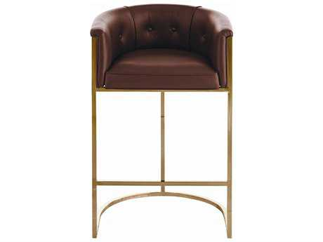 Arteriors Home Calvin Chestnut with Brown & White Hide Barstool