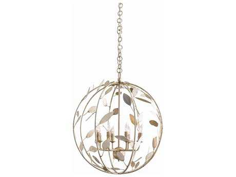 Arteriors Home Hue Champagne Iron Six-Lights 22'' Wide Mini Chandelier