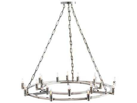 Arteriors Home Kalyor Antique Silver 18-Lights 44'' Wide Grand Chandelier