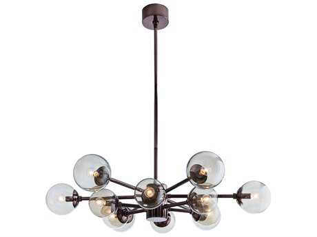 Arteriors Home Karrington Brown Nickel 12-Lights 37'' Wide Chandelier