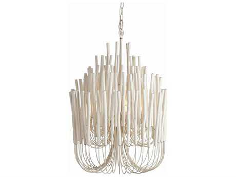 Arteriors Home Tilda White Washed Five-Lights 21'' Wide Chandelier