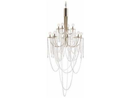 Arteriors Home Mirabelle Hotel Silver with Clear Glass 12-Lights 26.5'' Wide Chandelier
