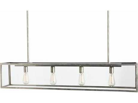 Arteriors Home Thornton Aged Iron with Clear Glass Four-Lights 49'' Long Island Light