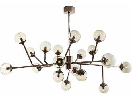 Arteriors Home Dallas Brown Nickel with Smoke Glass 18-Lights 45'' Wide Grand Chandelier