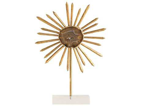 Arteriors Home Omari Gold Leaf Medium Sculpture