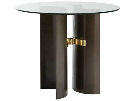 Arteriors Home Xylo Natural Iron with Brushed Brass 48'' Round Foyer Table