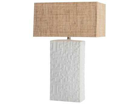 Arteriors Home Imana White Stain Buffet Lamp