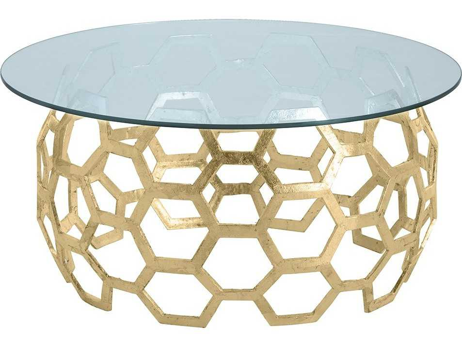 Arteriors Home Dolma Gold Leaf 48 39 39 Wide Round Cocktail Table Arhds201148