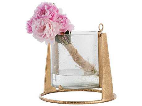 Arteriors Home Chango Hurricane Gold Leaf Vase