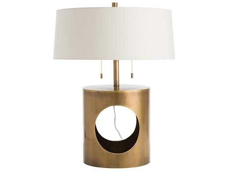 Arteriors Home Kalypso Antique Brass Two-Light Table Lamp