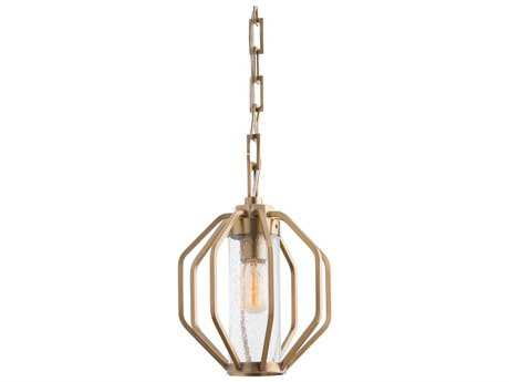 Arteriors Home Atlas Antique Brass 10'' Wide Pendant Light