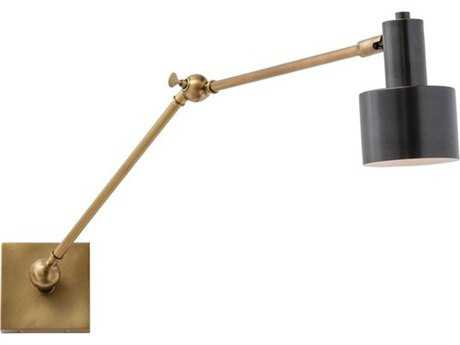Arteriors Home Loki Antique Brass & Black Swing Arm Wall Sconce