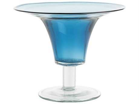 Arteriors Home Julius Blue Glass Vase