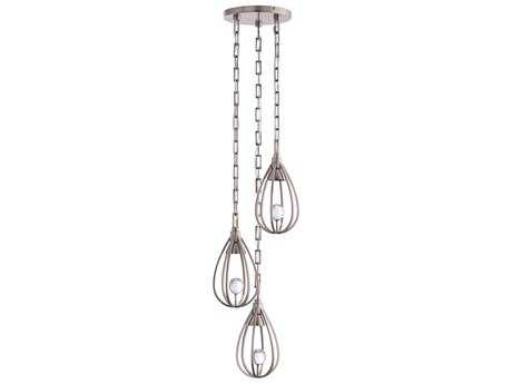 Arteriors Home Atheneum Vintage Silver Three-Light 12' Wide Pendant Light