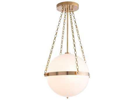 Arteriors Home Saturnus Antique Brass Three-Light 15'' Wide Pendant Light