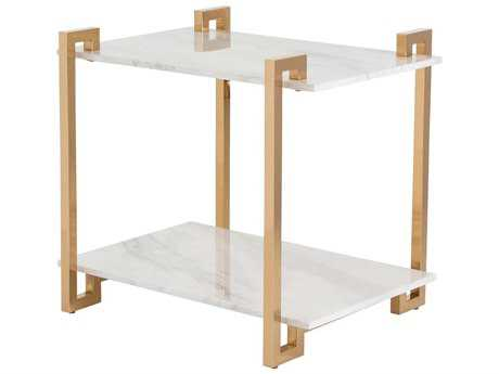 Arteriors Home Clio Polished Brass 21''L x 27''W Rectangular End Table