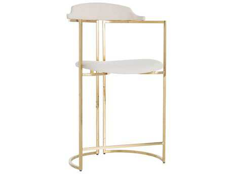 Arteriors Home Zephyr Polished Brass Counter Stool