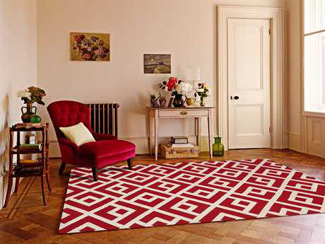 Amer Rugs Helena Red Rectangular Area Rug