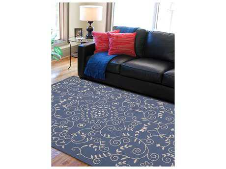 Amer Rugs Helena Denim Blue Rectangular Area Rug
