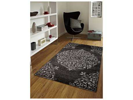 Amer Rugs Kimaya Charcoal Rectangular Area Rug