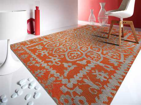 Amer Rugs Kimaya Orange Rectangular Area Rug