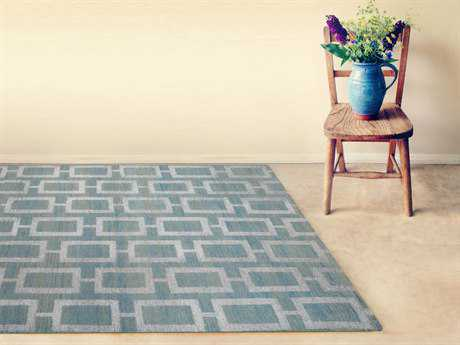 Amer Rugs Kimaya Steel Blue Rectangular Area Rug