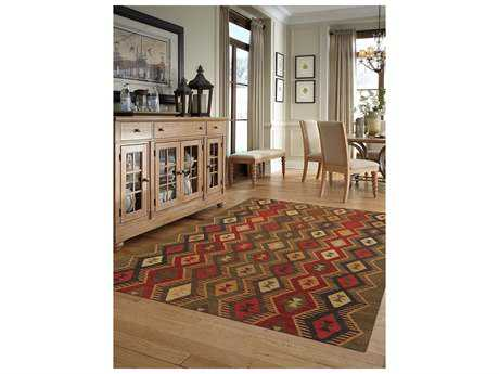 Amer Rugs Makamani Green Rectangular Area Rug