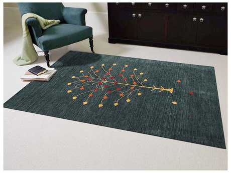 Amer Rugs Nomadic Dark Green Rectangular Area Rug