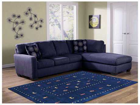 Amer Rugs Nomadic Navy Blue Rectangular Area Rug