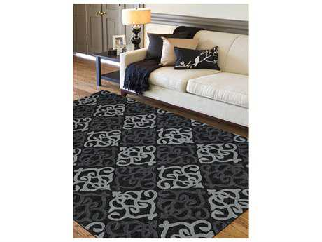 Amer Rugs Piazza Ebony Rectangular Area Rug