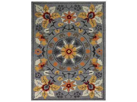 Amer Rugs Piazza Rectangular Gray Area Rug
