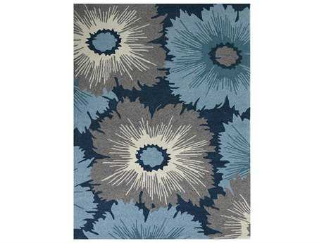 Amer Rugs Piazza Rectangular Navy Area Rug
