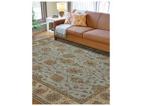 Amer Rugs Oasis French Blue Rectangular Area Rug